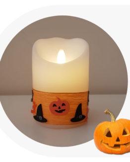candele di cera a led Halloween