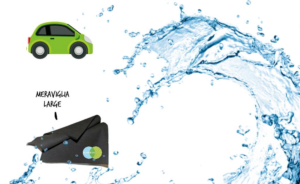 Panno Microfibra Per Asciugare L Auto.Panno In Microfibra Per La Carrozzeria Dell Auto Blueeco